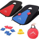 Collapsible Portable Cornhole SetA lightweight, portable cornhole game set just pops open and folds back up into a small bag about 15 in. x 15 in. for $35.99 at Amazon.Photo: Himal