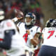 19. Houston TexansAverage single ticket cost: $145Two beers, two hot dogs, two t-shirts and remote parking: $132Total for two: $422Pictured is Texans quarterback Deshaun Watson at the NFL London Games in October 2019.Photo: Mitch Gunn / Shutterstock