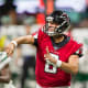 18. Atlanta FalconsAverage single ticket cost: $170Two beers, two hot dogs, two t-shirts and remote parking: $106Total for two: $446Pictured is quarterback Matt Schaub.Photo: Jamie Lamor Thompson / Shutterstock