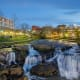 Greenville, S.C.Greenville's pretty downtown has a beautiful park along a river with a waterfall, pictured here, just a few steps from the downtown. It has great neighborhoods, several colleges and a thriving arts community.Photo: Shutterstock
