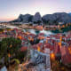 Omis, CroatiaThis port town in the Dalmatia region of Croatia on the Adriatic is a popular tourist destination for its big sandy beaches, secluded coves and blue waters. It sits at the end of a scenic canyon.Photo: Shutterstock