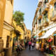 Sorrento is divided into three parts - the old town, the waterfront marinas below the cliffs, and the newer town beyond the ancient city walls.Photo: Shutterstock