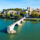Another town in Provence, Avignon, pictured here, sits on the Rhone River; the city was the seat of the Catholic popes from 1309 to 1377, and the Pope's palace is still there.Photo: Shutterstock