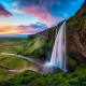 3. Iceland Above, Seljalandsfoss, a waterfall in southern Iceland. Visitors can walk behind the waterfall into a small cave.Photo: Shutterstock