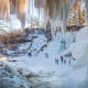 """These are the coldest cities in the U.S., based on the number of days that the temperature usually drops to zero Fahrenheit (-18 C) or below each year.1. MinneapolisDays of zero F. or below a year: 23Pictured is the frozen Minnehaha Falls near Minneapolis. According to the Star-Tribune, winter visitors ignore """"no trespassing"""" signs and barricades in the park to snap selfiesatthe frozen but dangerous waterfall.Photo: Shutterstock"""