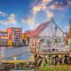 8. Portsmouth, N.H.Average work week: 32.1 hoursPrevailing wage: $30.81Average weekly earnings: $989Photo: Shutterstock