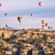 The Goreme valley and its surroundings contain rock-hewn sanctuaries that provide evidence of Byzantine art as well as troglodyte villages and underground towns dating back to the 4th century.Photo: Shutterstock