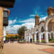 City of Potosi, BoliviaContinuous and uncontrolled mining operations nearby threaten to degrade this 16th-century city that was in its time the world's largest industrial complex. The colonial city has superb monuments of an Andean Baroque architectural style that incorporates Indian influences, and an intricate system of aqueducts and artificial lakes.Photo: Shutterstock