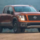 "The Nissan Titan starts at $30,690. PlusesThe best standard warranty in the segment by far -- bumper to bumper for five years or 100,000 miles.Reasonably good-looking ""car-like"" interior.Like the Toyota Tundra, a simplified configuration scheme.MinusesNo available front bench seat.Almost no engine choices.Horrible fuel economy."