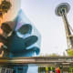 """14. (tie) Space Needle, Seattle2018 Attendance: 1.6 millionSeattle's iconic Space Needle was built for the 1962 World's Fair. You may think it was inspired by """"The Jetsons,"""" when actually it was the other way around. According to Seattle magazine, a layout and design artist for """"The Jetsons"""" told The New York Times in 2005 that the Space Needle inspired the structures in the cartoon. The Space Needle originally had a gas-powered torch at the top. It is pictured here next to the Museum of Pop Culture.Photo: Checubus / Shutterstock"""