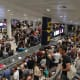 127. Manchester AirportManchester, EnglandOn-Time Performance Score: 5.2Service Quality Score: 7.8Food and Shops Score: 8Above, baggage claim at the Manchester Airport is backed up after an earlier evacuation.Photo: RootsShoots / Shutterstock