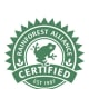 This certification means a product was developed and produced with its ecological, economic and social impact in mind. The Rainforest Alliance is a New York-based organization hoping to help improve consumer and company behavior to help promote environmental sustainability. The Alliance scopes out and monitors farms and their practices that ensure conservation of water, wildlife and the ecosystem and that workers are fairly treated, among other standards. Photo Credit: Rainforest Alliance