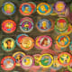 Popular plastic discs called Pogs, which were used to play a game also called Pogs, were all the rage from about 1990 to 1995, according to Mahalo.com, but the game actually first came about in the 1920s on the streets of Hawaii. The point of Pogs is to stack a number of them on a flat surface, then slam another Pog onto the stack. The player who gets the most Pogs to flip upside down wins the game. Hawaiian kids originally used milk bottle caps to play the game. At their peak, rare Pogs might cost a few hundred dollars. Currently, a set of 165 Pogs will run you $11 on Amazon.com. Photo Credit: kafka4prez