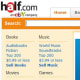 Half.com is run by eBay, but has a more specific focus. The site features unbeatable deals on used books, CDs and movies. The site is especially useful for students looking to buy and sell textbooks. Photo Credit: Half.com