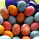 On its list of Easter basket treats, WebMD includes the simple protein-packed egg. But to get some kids to eat them hard-boiled, you may need to dye them until the egg white under the shell changes colors. Each egg has about 6 grams of protein, plus vitamins and minerals, WebMD notes. Photo Credit: EraPhernalia Vintage