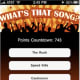 What's That Song? is a fun guessing game app that plays a 10-second clip of a song and prompts you to guess the title and artist. In easy mode, players are given multiple choice, while in hard mode, the responses must be typed in. Get it here.