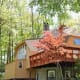 In the sleepy hamlet of Tomkins Cove, New York, just a short hour drive from downtown Manhattan, a geodesic dwelling boasting three bedrooms and three full baths is listed at $369,900. The heavily wooded one-third acre lot sits at the tail end of a quiet cul de sac in a private lake community hat abuts Harriman and Bear Mountain State Parks. Photo Credit: Weichert Realtors
