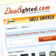 This site is particularly good for tech gadgets. Right now, on the main page, there are deals and coupons advertised for iPod speaker systems, Wii accessories and televisions. Dealighted http://www.dealighted.com/ also puts out deals for non-tech stores like JC Penny. Photo Credit: Dealighted.com