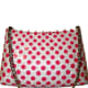 The super popular Rebagz Nipple bags are covered with adorable polka dots and are available in several styles including wristlets, shoulder bags and doctor bag. All year round, the company will donate 10% of retail sales of Nipple Bags to the Breast Cancer Emergency Fund. Prices vary. Order here