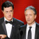 The one-two punch of John Stewart and Stephen Colbert on Comedy Central has made that network's 11-to-midnight broadcast a nightly news of sorts for its demographic. Regularly skewering Washington and the media, The Daily Show and The Colbert Report have transcended the joke-and-sketch format to take their place as legitimate liberal punditry (although progressives also get skewered with great regularity). Past presidents, sitting dignitaries and a long string of candidates, authors and academics have long seen the benefit of appearing on the must-see shows. Stewart, who took over his show in 1999 after the departure of Craig Kilborn and infused it with his ambitious political slant, is under contract with Comedy Central through 2013. Colbert, whose show debuted in 2005, has a deal that extends through next year. Photo Credit: AP