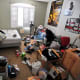 "The guy who took this picture goes by the Flickr handle ""'Permanently Scatterbrained."" The room, however, does not belong to him. It belongs to his brother, who lives in San Diego. According to Scatterbrained, ""he's 24 so he's supposed to be filthy."" Photo Credit: permanently scatterbrained"