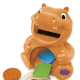"""Ages 6 to 36 months Approx. Retail Price: $24.99 Requires 3 AA batteries, demo batteries included You can combine excitement and learning opportunities for your little ones with the new Color Me Hungry Hippo. """"Feed"""" the hippo and watch its belly respond with a colorful glow. As the character chows down, he recognizes each shape, color and the food it represents. Open the hippo's belly to remove shapes for put-and-take play. Four modes of play keep the baby engaged with numbers, colors, shapes and foods. The hungry hippo features more than 45 sound effects, tunes and activities, and it teaches in English or Spanish. -- Written by Marilen Cawad for MainStreet"""