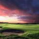 """Location: Prestwick, ScotlandWelcome to the birthplace of the Open. The first was played here in 1860, but the club hasn't hosted another since 1925. It's still beloved by PGA pros and remains one of the best bargains of the former Open venues. Though out of the Open rotation, Prestwick charges $219 per round on a summer weekday (or $302 for a whole day) and $251 on the weekend. If you only have one round to spare, the $245 """"Prestwick"""" experience includes an 18-hole round and a tie-and-jacket lunch. If you aren't swayed by a meal, just wait until the fall and winter low season and play a whole day of golf for $150."""