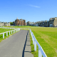Location: St. Andrews, ScotlandDating back to the 1400s, the Old Course is considered the birthplace of golf and the sport's most hallowed ground. Tiger Woods shot 19 under par here to win the 2000 British Open, setting a record no one has ever come close to beating. That said, this is also one of the most easily accessible courses in the world. It's booked in advance, but there are still tee times available during the November and December low season for $113 in green fees. That increases to $225 during the favored summer months, but even those coveted tee times aren't impossible to get. About half of all starting times are drawn daily for a chance to play the next day. If you call ahead or show up in person the day before you want to play with your name, that of your home club and your certified handicap, you'll be entered into the drawing. Your best bet, however, may be to come alone the morning you want to play. The folks at St. Andrews will hook you up with the first available group with a vacancy.