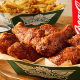 Chicken wing chain Wingstop's delivery options include deals of the week and group ordering when you sign up for an account. The service is offered through its partnership with online food delivery company DoorDash.com.