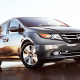"""Starting price: $25,836Combined miles per gallon: 24Cargo capacity: 38.4 cubic feet with all seats up, 148.5 maximumIts versatile cabin seats up to eight, with second-row seats that can be configured to fit three child seats. The Odyssey's removable center console offers a useful flip-up trash-bag holder, and there's also a """"cool box"""" beverage cooler to accommodate chilled refreshments. Best of all, an in-cabin vacuum is an available option for parents who just know that a healthy percentage of that trip's road snacks are going to end up on the floor."""
