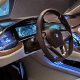 Wards touted the BMW car's tech advances, including an improved iDrive system with gesture control.