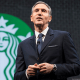 Starbucks Corp. visionary and former CEO Howard Schultz stepped down on April 3, taking up a new role as executive chairman. Kevin Johnson, previously Starbucks' president, COOand long-time board member, replaced Schultz.Starbucks is a holding in Jim Cramer's Action Alerts PLUS Charitable Trust Portfolio. Want to be alerted before Cramer buys or sells SBUX? Learn more now.