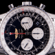 This watch has been in production for over 50 years. The slide rule bezel has the capacity to calculate ground speed and average speed. It retails for about $6,000.