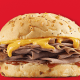 The company operates a chain of 3,300 sandwich shops known for its roast beef. Arby's CEO Paul Brown has been crushing it, as TheStreet's Brian Sozzi points out here.