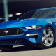 This Ford Mustang features Ford's Sync 3 infotainment system, available with smartphone projection technology.