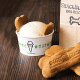 """Shake Shack offers a complete meal for Lassie. After chowing down on her Bag O' Bones burger biscuits, she can have a tasty Pooch-ini - a mix of vanilla custard, peanut butter sauce and biscuits. Although Shake Shack warns on its website that the Pooch-ini isn't intended for small dogs, sorry Toto.""""We'll always have a special place in our hearts for your furry four-legged friend,"""" Shack Shack said on its site."""