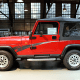"Current value: $4,000 to $5,000There wasn't always a Jeep Wrangler. When American Motors began making civilian versions of the U.S. military's Willys Jeeps after World War II, they were simply that: Civilian Jeeps, or CJs. When Chrysler bought American Motors in 1986, it renamed the CJ the Wrangler and gave it a bigger frame similar to that of its Cherokee. It looked similar, but its headlights were now square instead of round and the windshield wipers just sat in the middle of the window because Chrysler didn't have time to adjust for their arc after upsizing the windshield. These are the Jeeps you see in ""Jurassic Park,"" but the fact that the YJ looks vastly different than any Jeep that came after it (and the fact that there were nearly 700,000 produced) has diminished it value a bit."