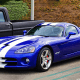 The mid-aughts version of the Viper featured 510 horsepower 8.3 liter V10 engine that could reach a top speed of 202 miles per hour. The vehicle registered a sub-3 minute one-lap runtime at the Virginia International Raceway, according to Car and Driver.