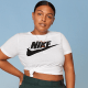 Everything you need for a trip to the gym, or just running errands comfortably around town. The line includes tees, tights, sport bras, shorts and jackets in a range of colors.
