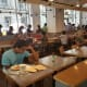 An overwhelming majority of the people in the restaurant were business professionals and likely taking their food back to work, so despite the long line, there were plenty of seats open in the middle and at the bar-style seating along the windows.