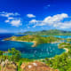There are several destinations in the Caribbean:Antigua and Barbuda (shown) Barbados, Turks and Caicos, St. Lucia, Saint Vincent and the Grenadines, Aruba, St. Barts, St. Maarten, and Dominica.