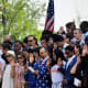 immigration, citizenship /67 immigrants from 35 countries are sworn in as new American citizens on the steps of Thomas Jefferson's Monticello in Charlottesville, Va.