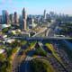 Atlanta, georgia, traffic, freeway, downtown