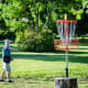 """Disc golf is kind of like golf, except players throw aFrisbee-likedisc toward a target, usually an elevated metal basket. Many city parks host free courses with 9 or 18 """"holes."""" The City of Houston Park and Rec, which has five courses, recommends that participants should not touch or share discs, bags, carts, or other items."""
