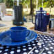 Use metal plates and cups for outdoorpartiesor camping.