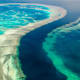= Of coral reefs remain.Ocean acidification, overfishing, pollution and rising temperatures are killing off the world's coral reefs. By 2070, they could be gone completely. Pictured is the Great Barrier Reef in Australia, one of the world's greatest natural wonders; 99% of its coral may already be at risk, according to the Australian Academy of Science.