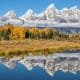 Situated near Jackson Hole, and just 10 miles from Yellowstone National Park, Grand Teton National Park's crown jewels include the dramatic spires of the Cathedral Group of peaks that rise straight from the valley floor, as well as the majestic Snake River.