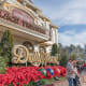 Dolly Parton's theme park in the tourist town of Pigeon Forge has rides like Barnstormer and Black Bear Trail, a replica of Parton's Tennessee mountain home where she grew up, and lots of dinner shows.