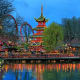 One of the oldest operating amusement parks in the world, Tivoli Gardens opened in 1863 and has rides, games, musicals, ballet, major concerts, and of course, gardens.