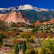 At 6,000-foot elevation,Colorado Springs, at the foot of the Rockies, boasts bothcrisp mountain air and sunny skies. Hike glacier-carved Pikes Peak,go golfing, or enjoy a picnic in the park. Don't miss the red sandstone formations in the Garden of the Gods.